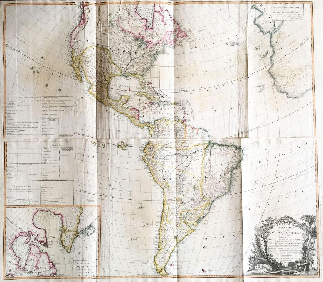 Gibson/Sayer: Antique Map of Western Hemisphere, 1786