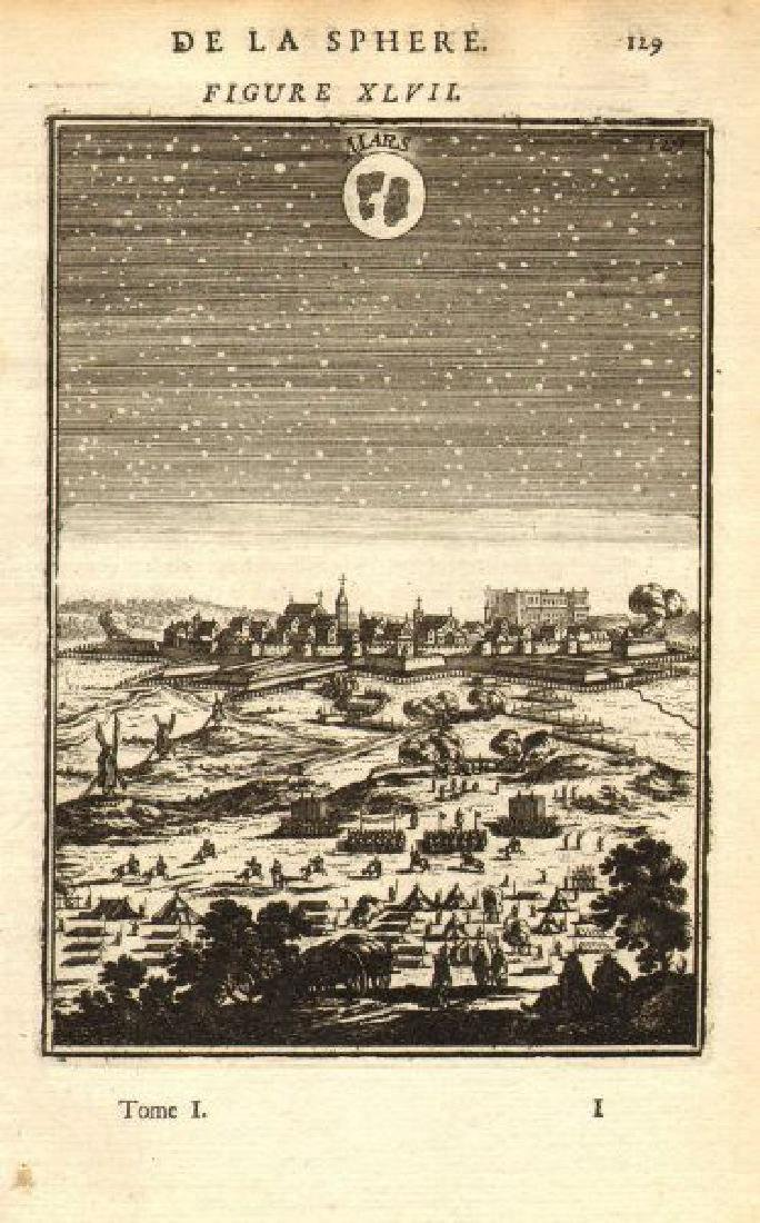 Mallet: Antique View of Mars in the Night Sky, 1683