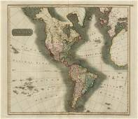 Thomson: Antique Map of North & South America, 1817