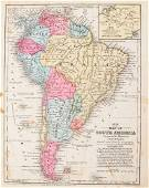 Mitchell: Antique Map of South America, 1852