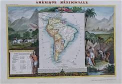 Levasseur: Antique Map of South America, 1840