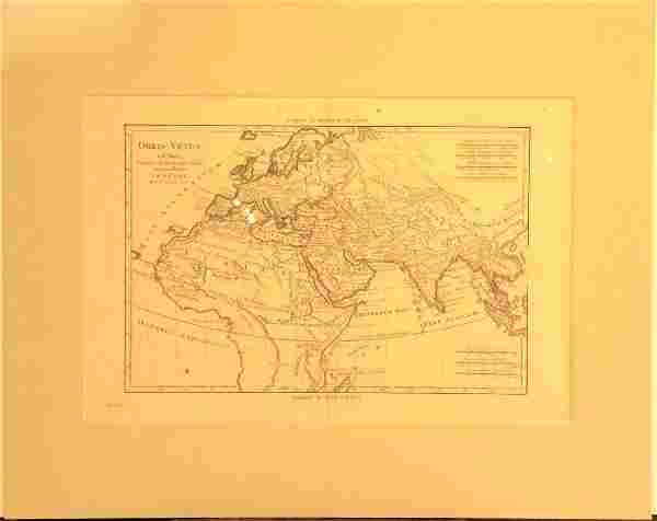 Bonne: Antique Map of Europe, Asia & Africa, 1781