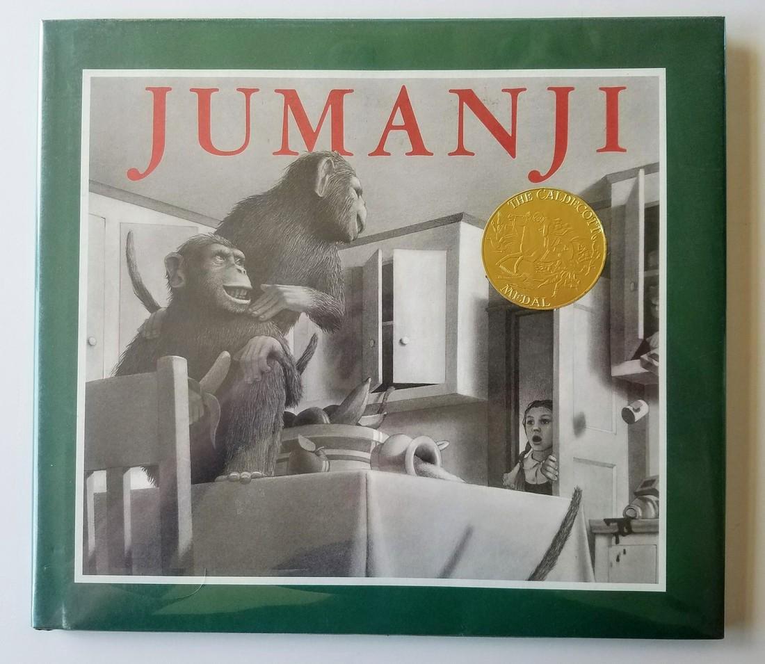 Caldecott Winner Jumanji Signed & drawing first edition