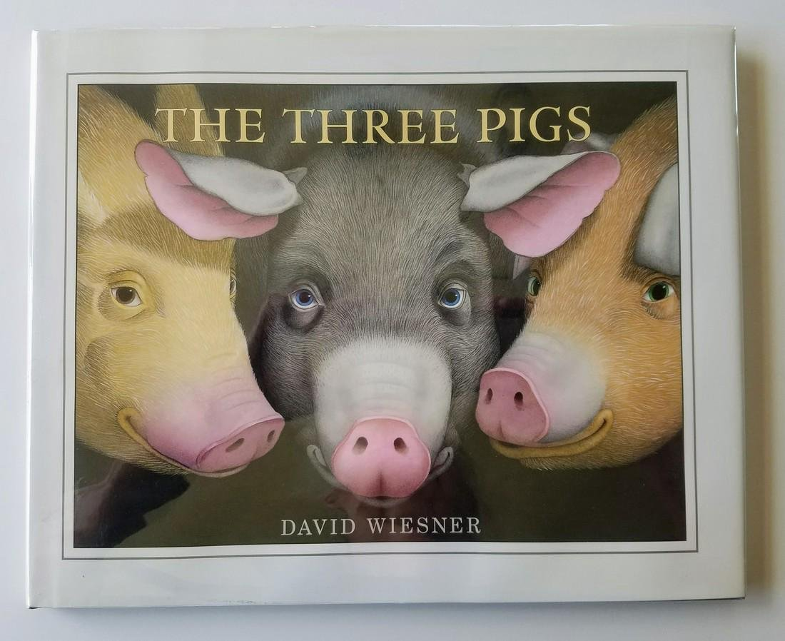 Caldecott Winner, The Three Pigs, Signed first edition.
