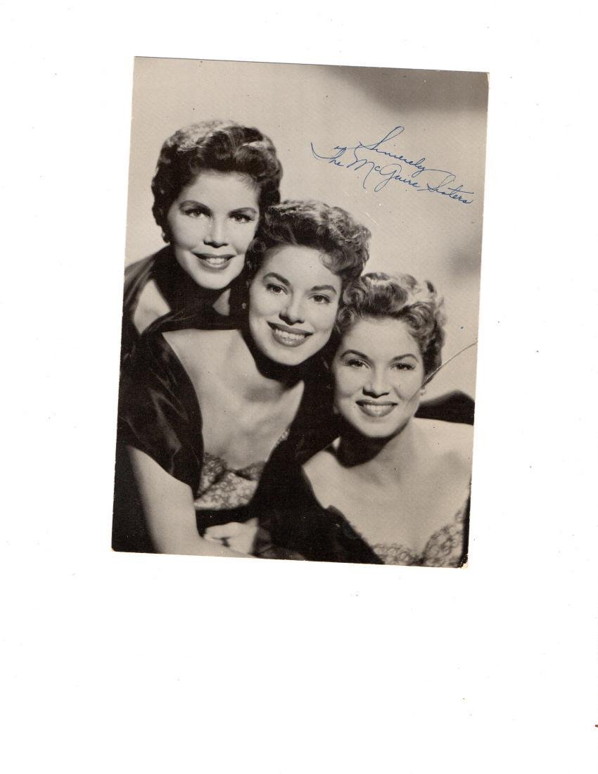 Mcquire Sisters Autographed Photo
