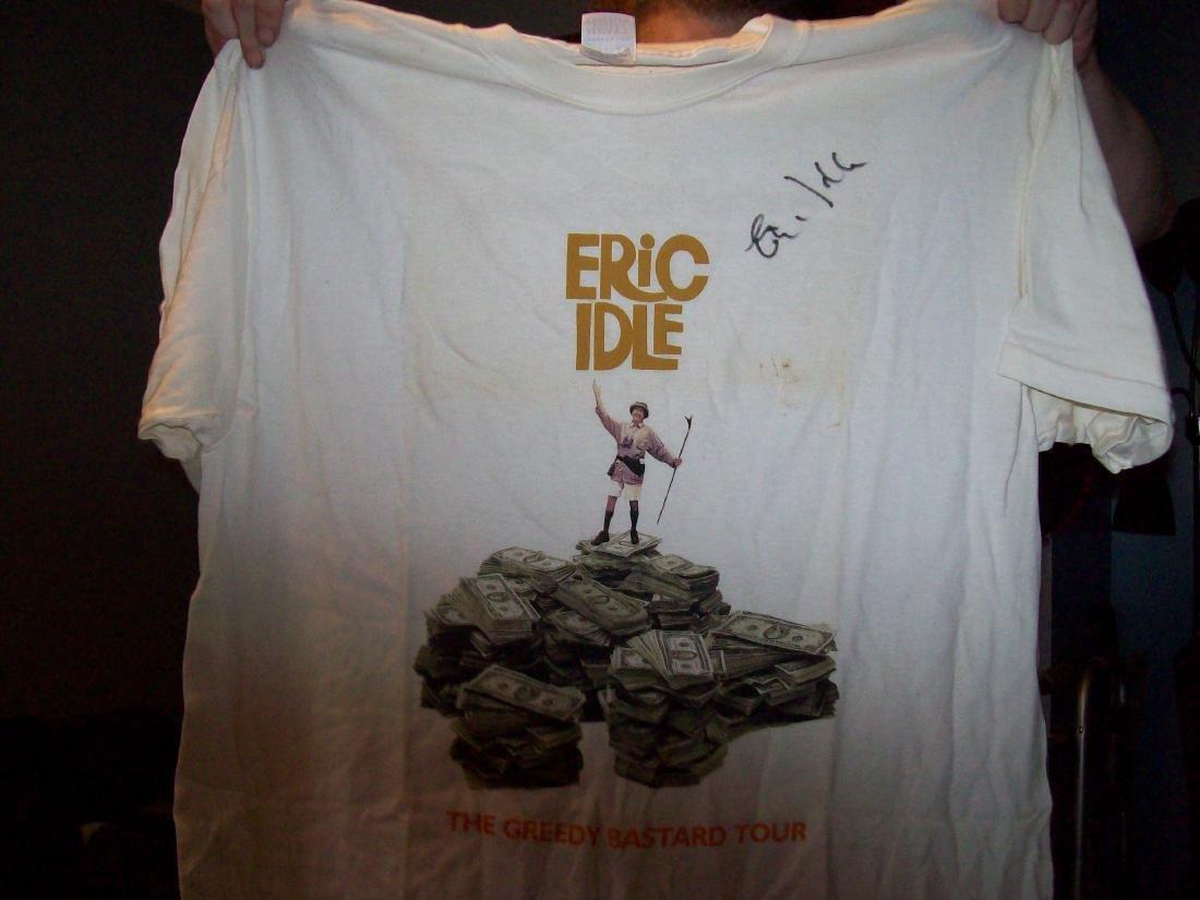 Eric Idle Monty Python T-shirt Signed