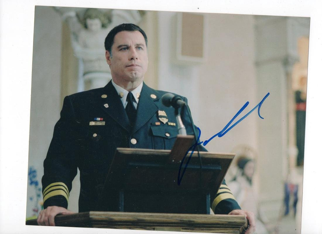 John Travolta Autographed Photo