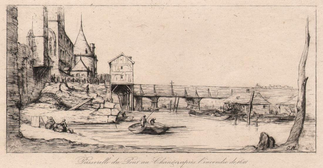 Charles Meryon ( 1821 - 1868) Etching