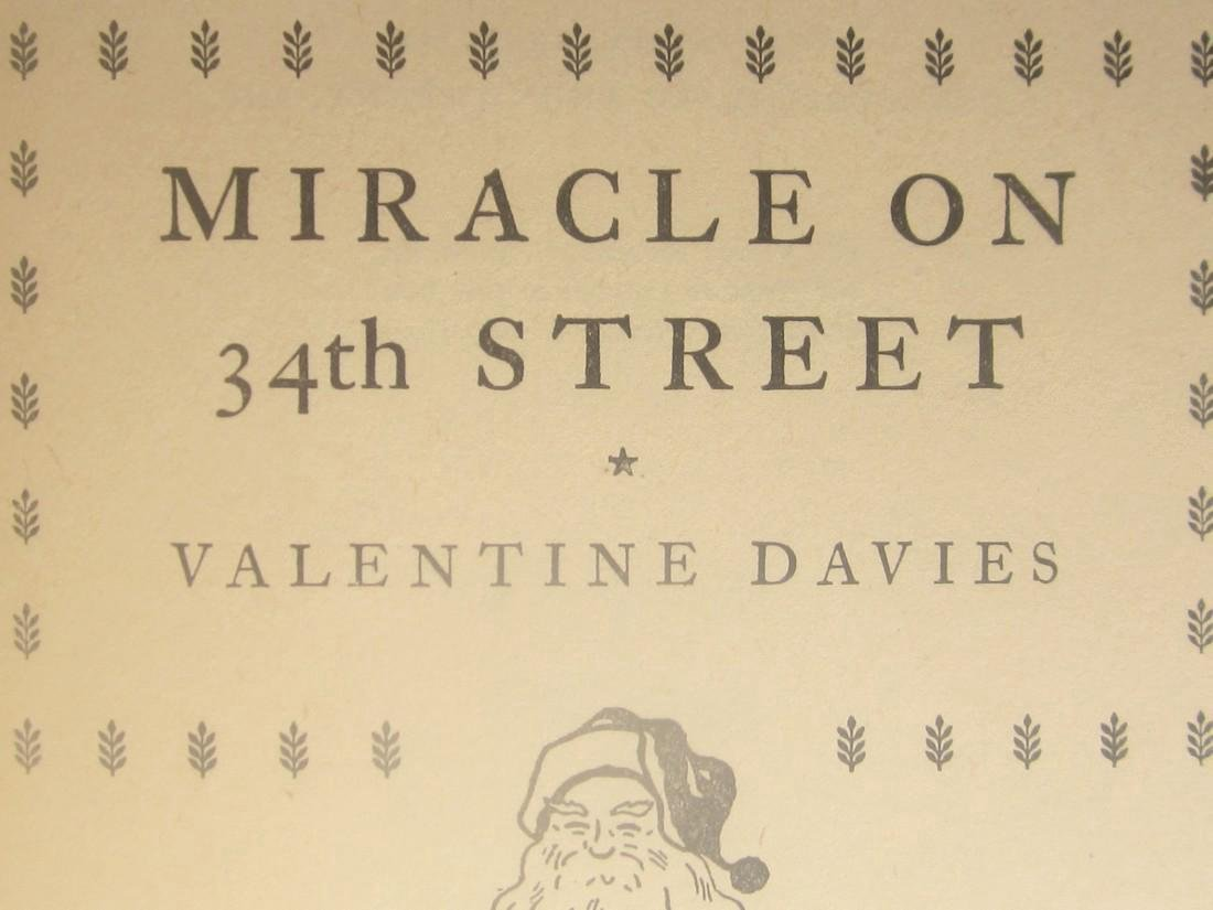 """1st Edition """"Miracle on 34th Street''"""