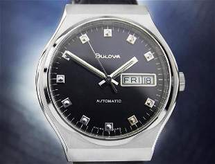 Bulova Mens 1970s Automatic Stainless Steel Watch
