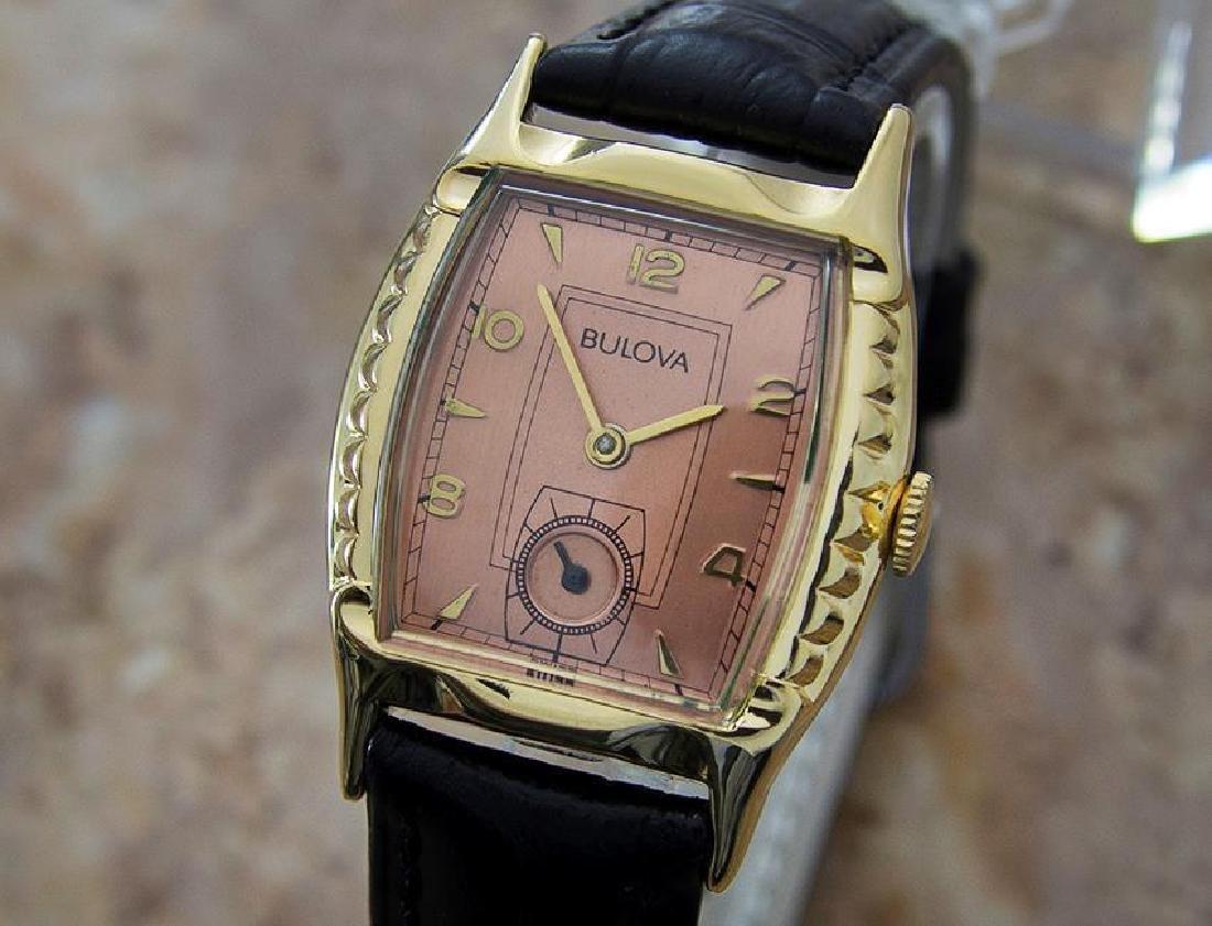 Bulova Swiss 1950s Mechanical Men's Gold Plated Watch