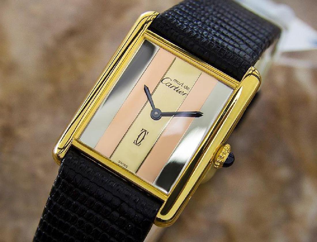 Rare Cartier Trinity 925 Silver Quartz Unisex Watch