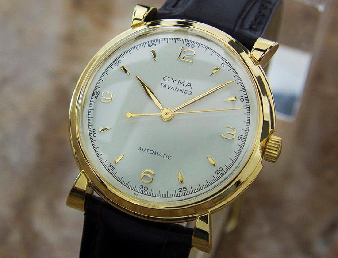 Cyma Bumper Automatic 1960s Vintage Gold Plated Watch