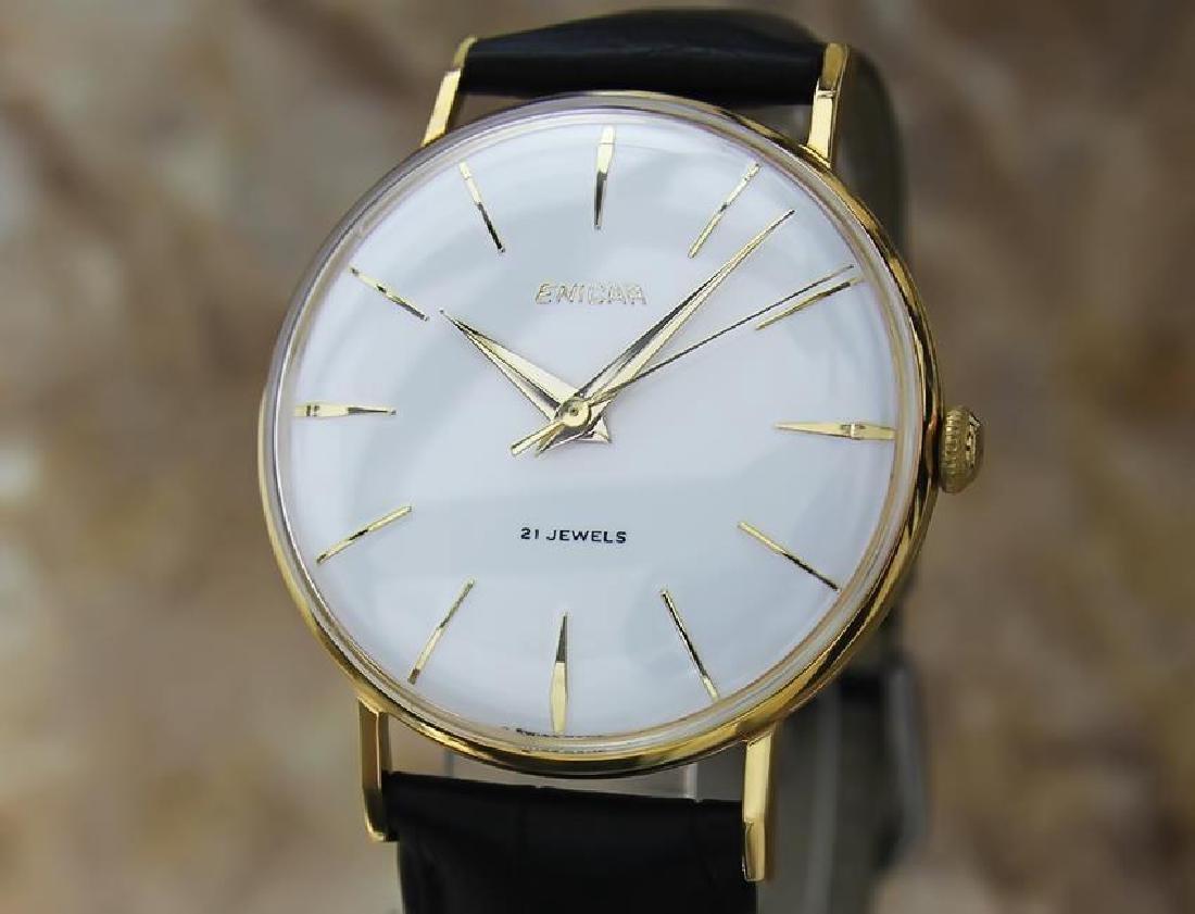 Enicar Vinatge 1960s Manual Men's Gold Plated Watch