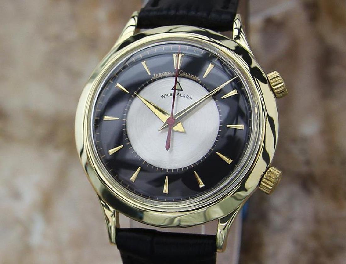 Jaeger LeCoultre 18k Solid Gold 1960 Manual Alarm Watch