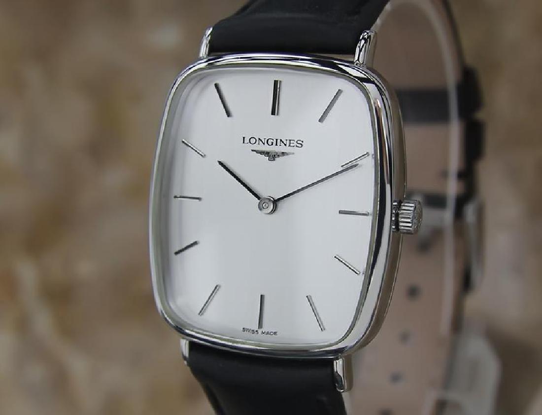 Longines Men's 1980s Manual Stainless Steel Swiss Watch
