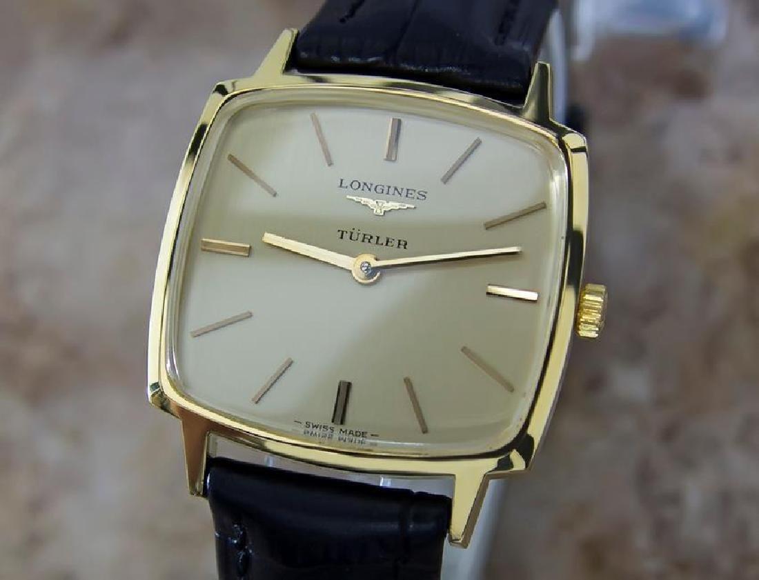 Longines Turler Swiss 1980s Mens Manual Watch