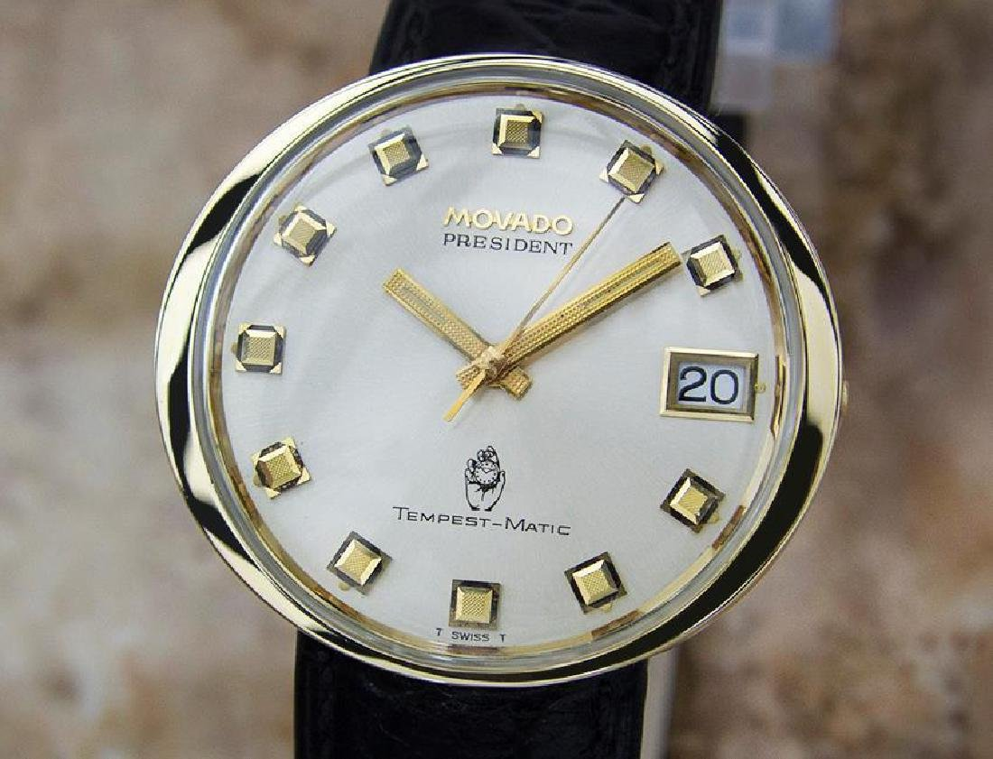 Movado President Tempest Matic Swiss Mens 1960s Watch