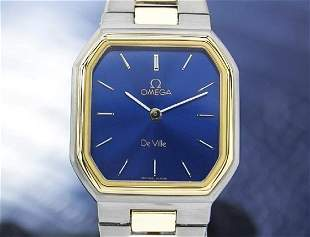 Omega Swiss Lady Deville Gold Plated Watch c1980