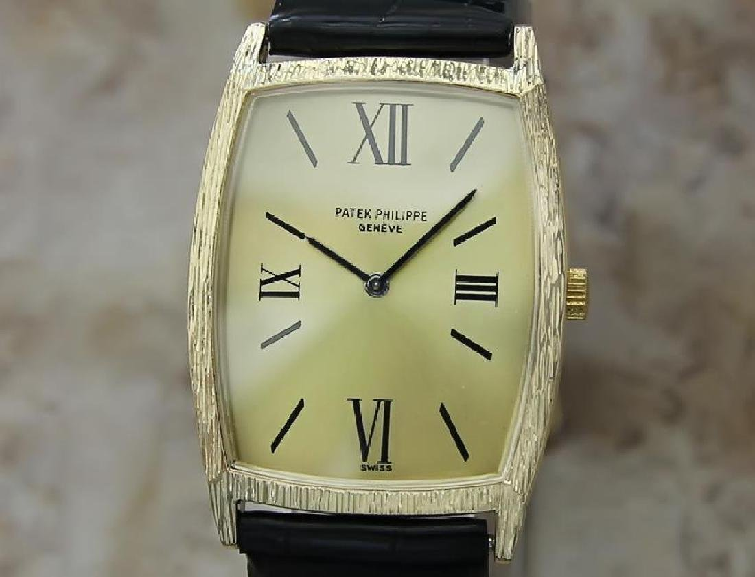 Patek Philippe Swiss Made 18k Solid Gold Watch c1980