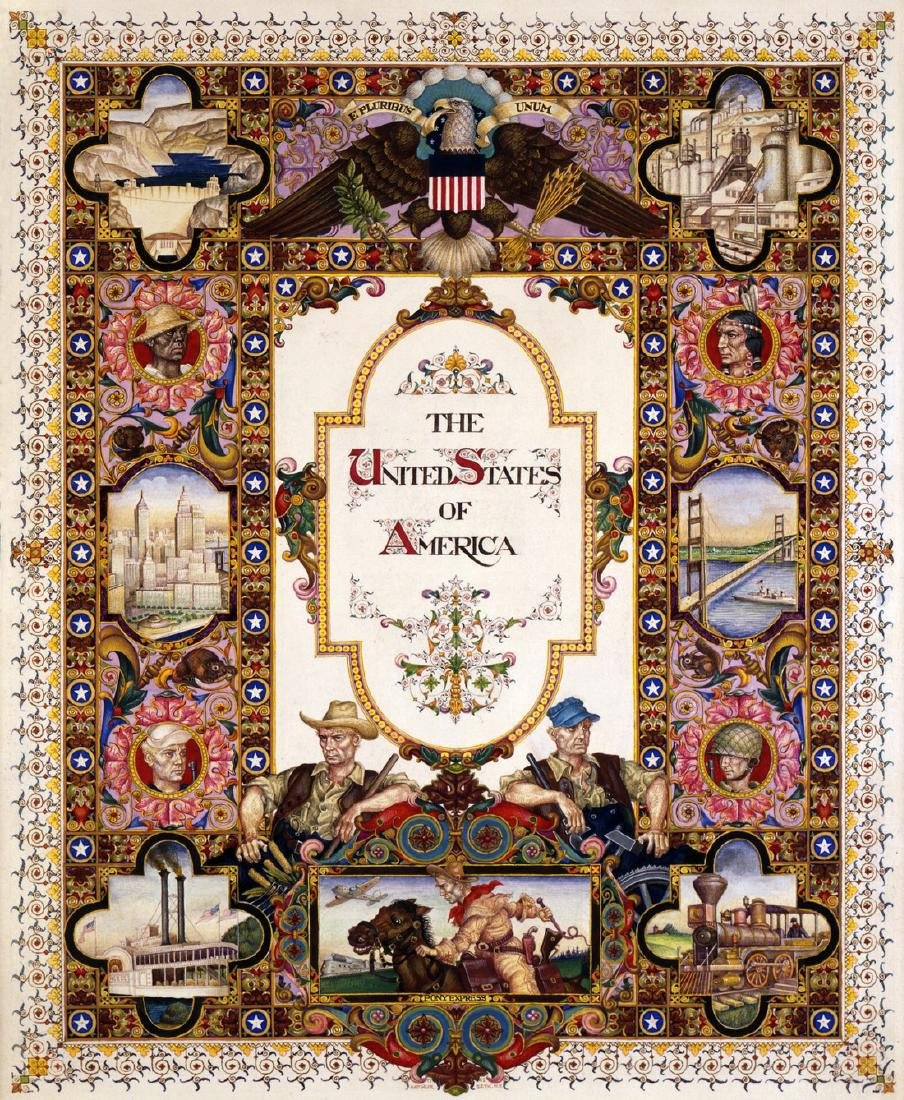 Visual History of the United States USA in Heliochrome