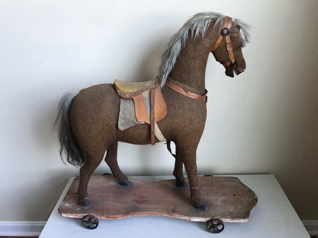 Antique Horse Pull Toy 1880
