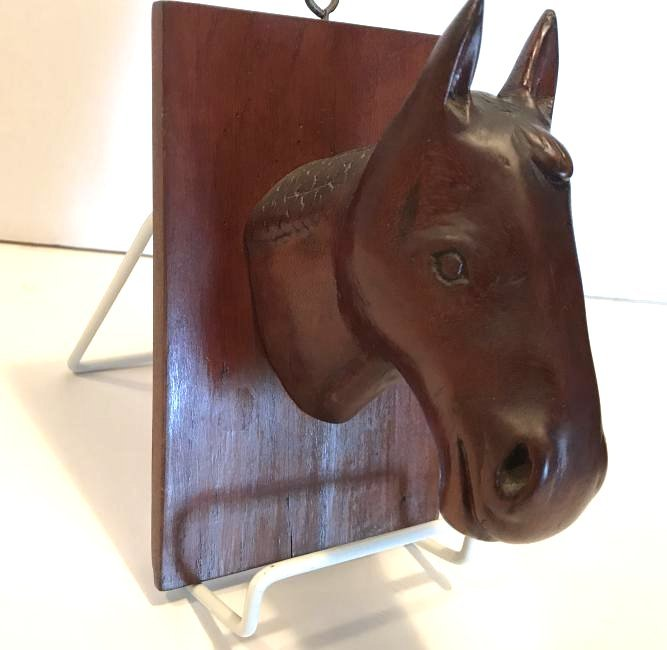 Folk Art Horse Carving