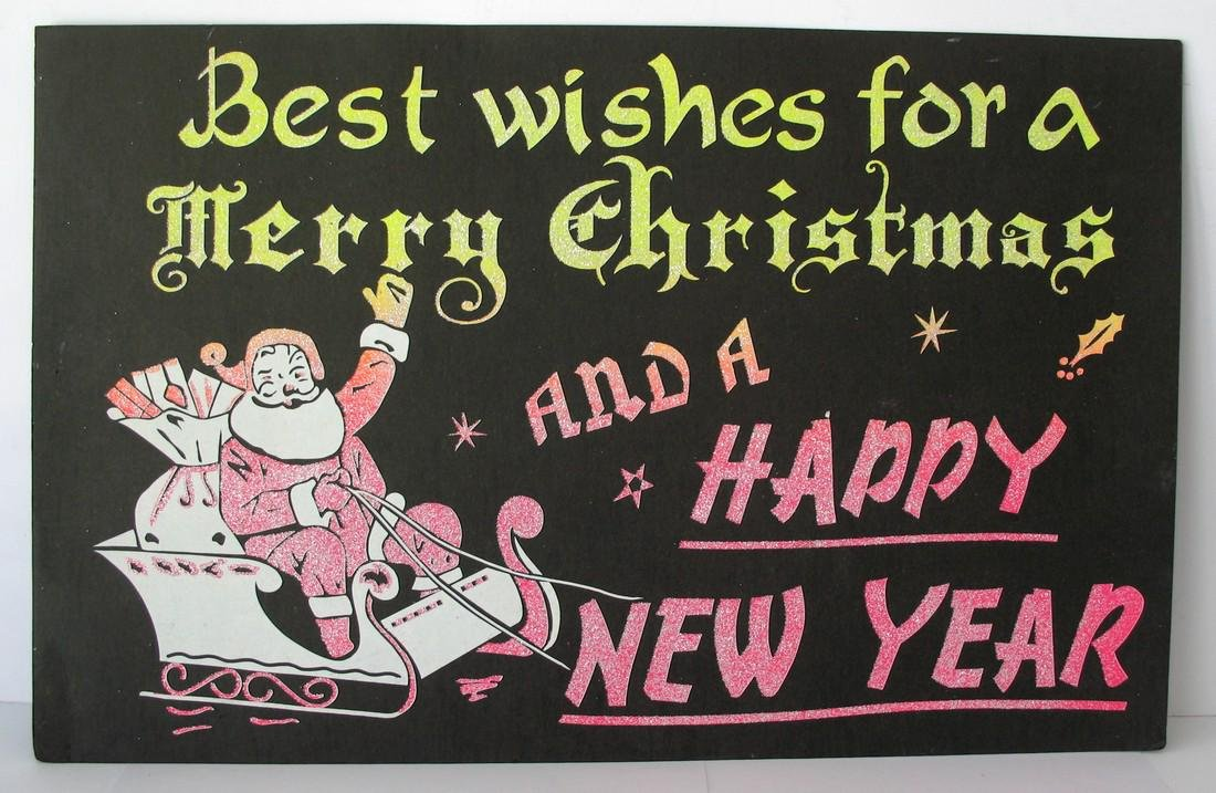 Holiday Poster Merry Christmas Happy New Year