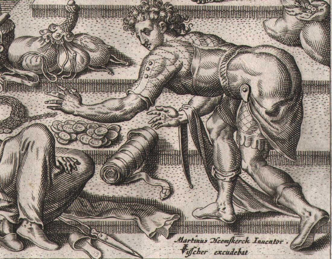 Philips Galle Engraving Saphires Death