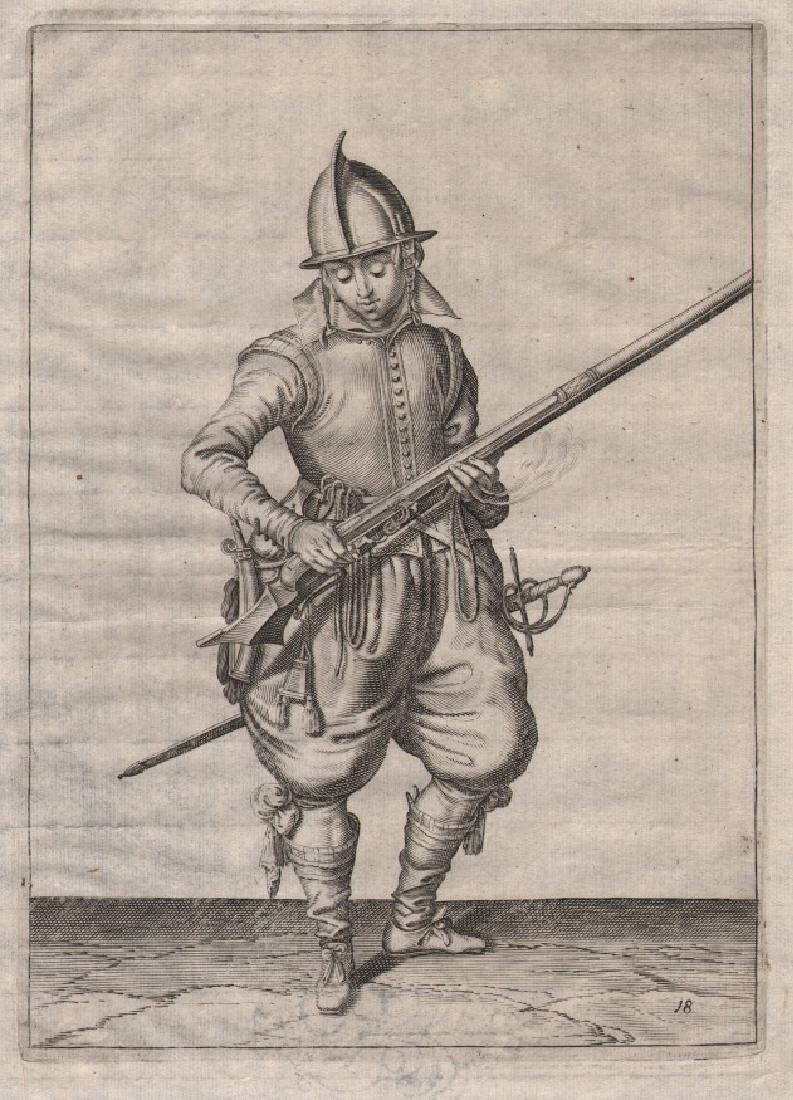 Jacob De Gheyn Ii Etching Soldier & His Caliver