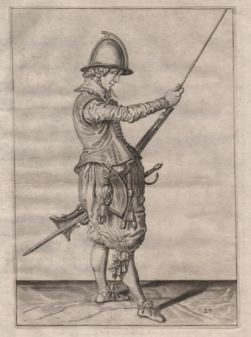 Jacob De Gheyn Ii Etching Soldier Pulling the Ramrod