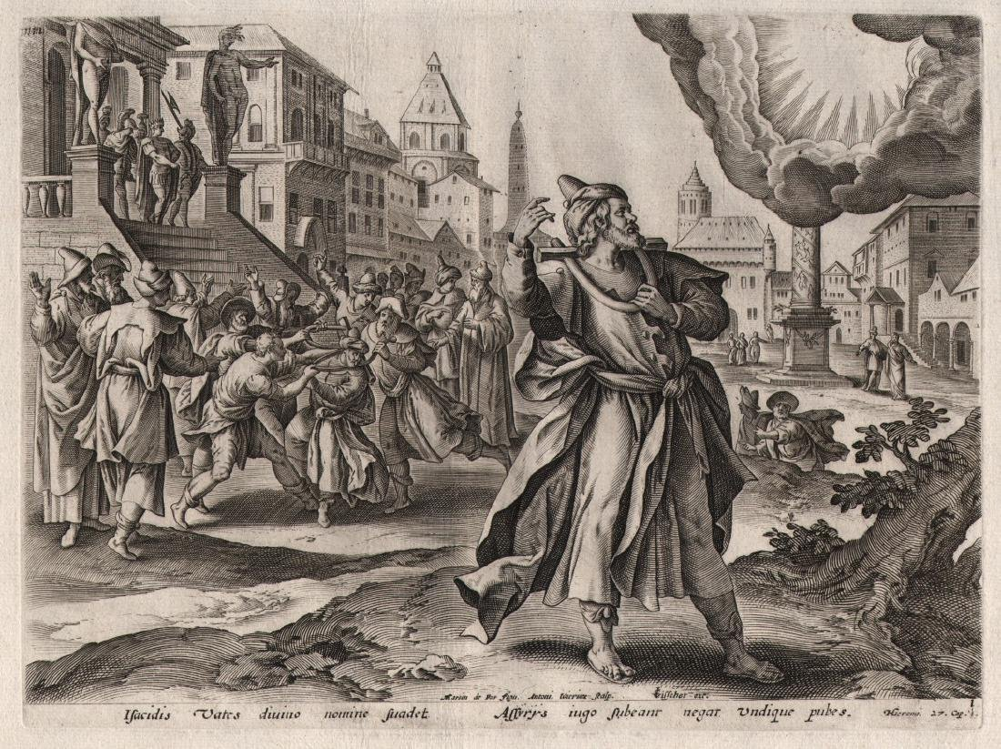 Antonius Wierix Engraving the Lord Appearing Jeremiah