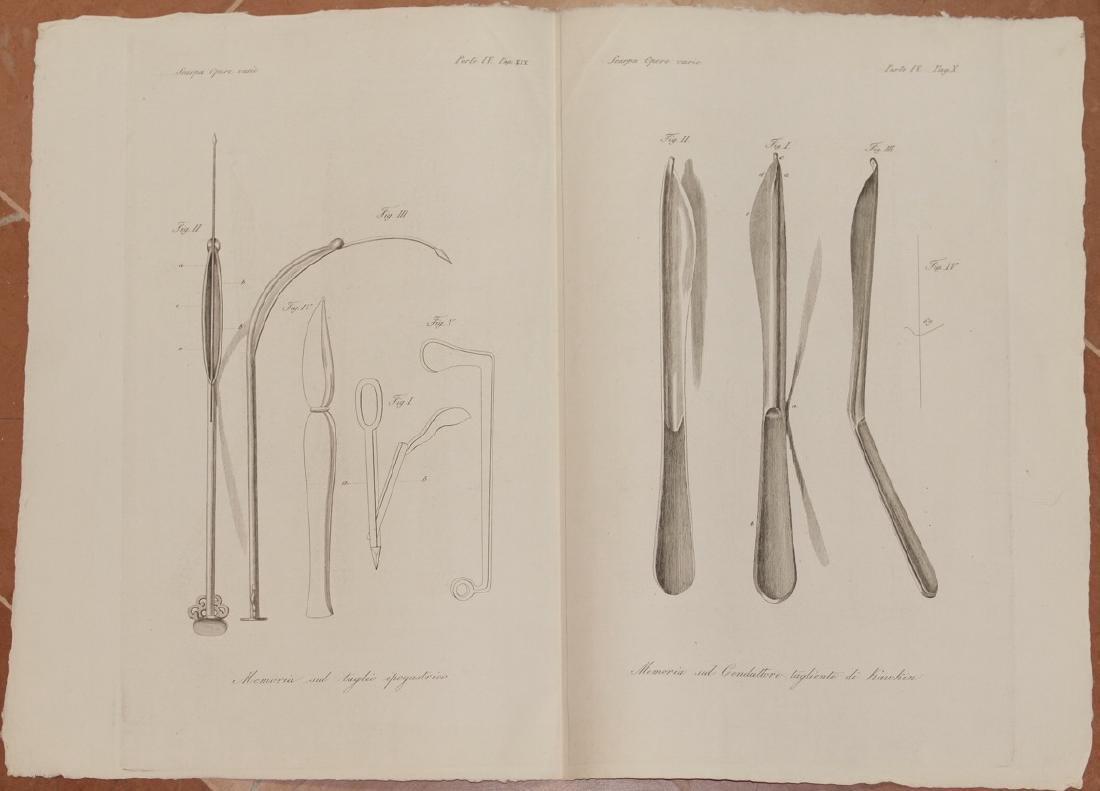 Antonio Scarpa Medicine Lithograph Surgical Instruments