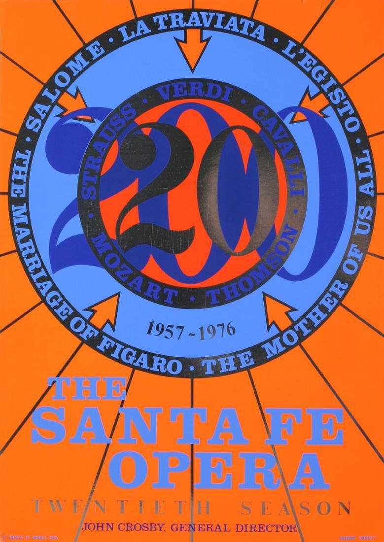 Robert Indiana Serigraph The Santa Fe Opera