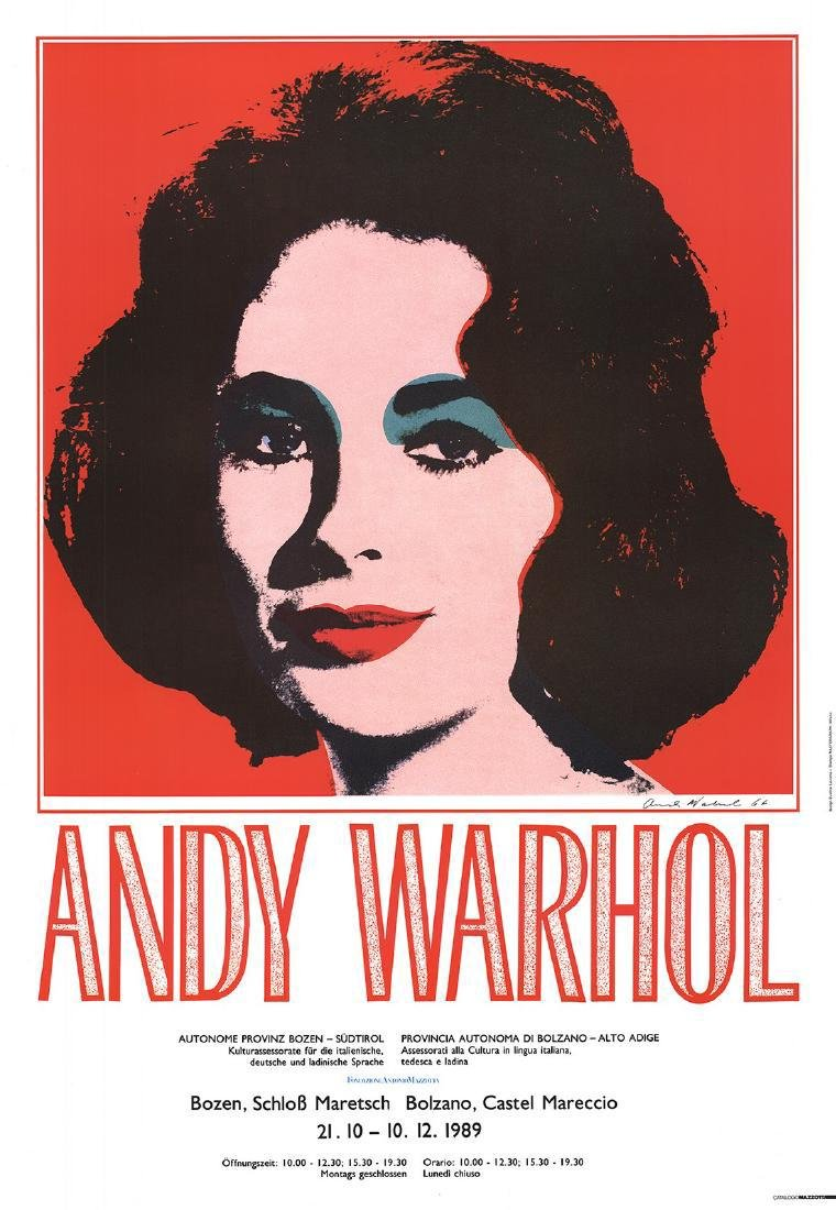 Andy Warhol Offset Lithograph Liz Taylor