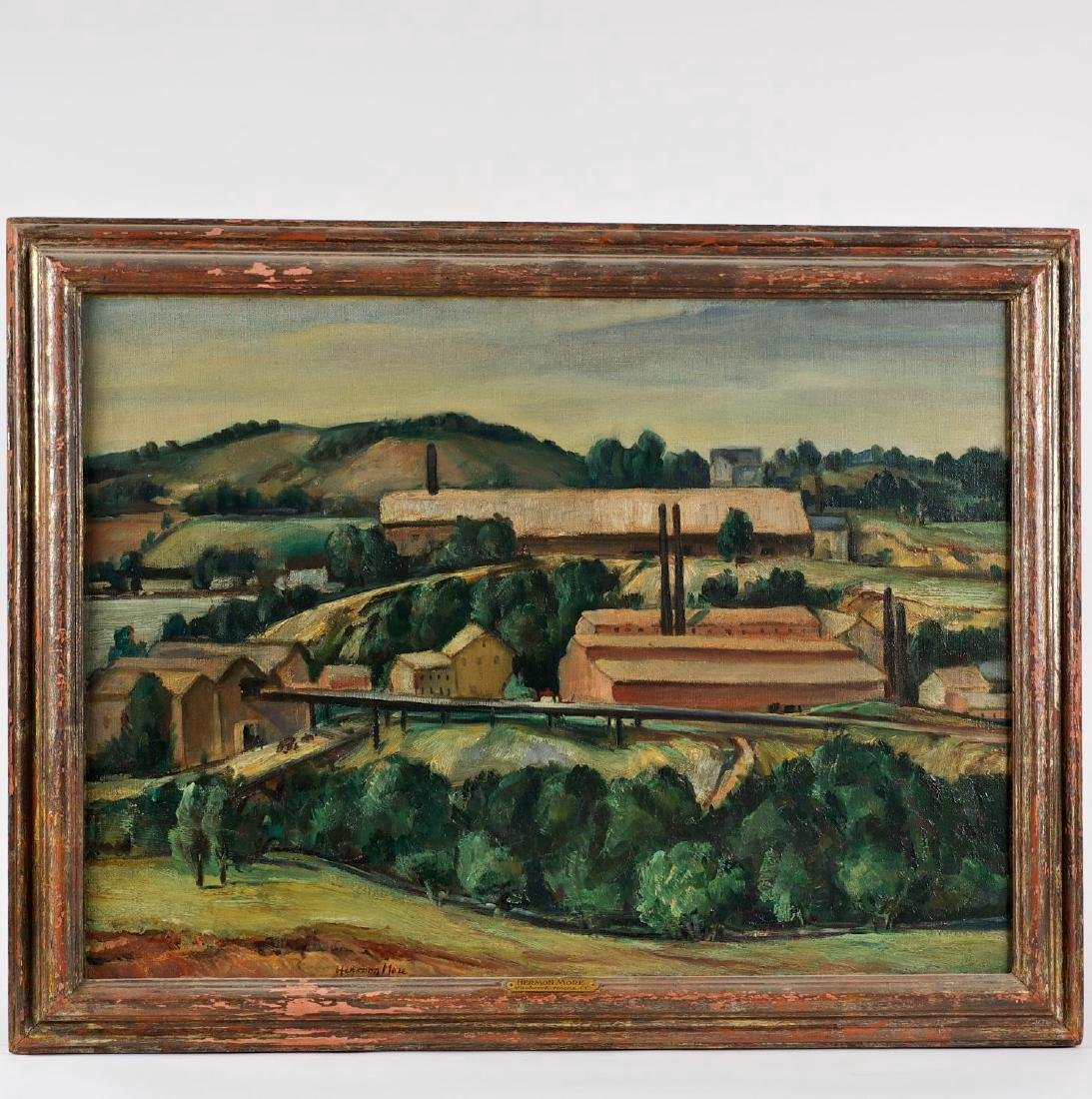Hermon More Oil Painting WPA Industrial Landscape