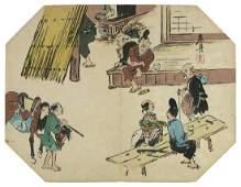 Shibata Zeshin Woodblock Tea-house in the Countryside