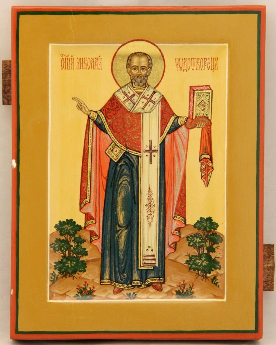 Saint Nicholas Russian Icon, 20th C