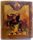 St. Demetrius of Thessaloniki Antique Russian Icon