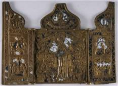 Our Lady of Joy to all Sufferers Triptych Icon, 19th C