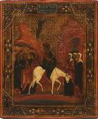 Entry to Jerusalem Antique Icon, 19th C