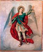 Antique 19th C. Russian Icon of the Guardian Angel.
