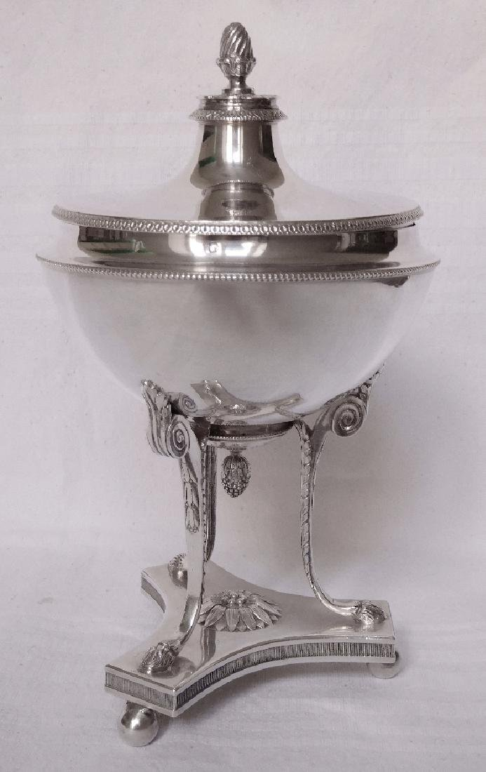 French Empire Style Sterling Silver Candy/Sugar Box