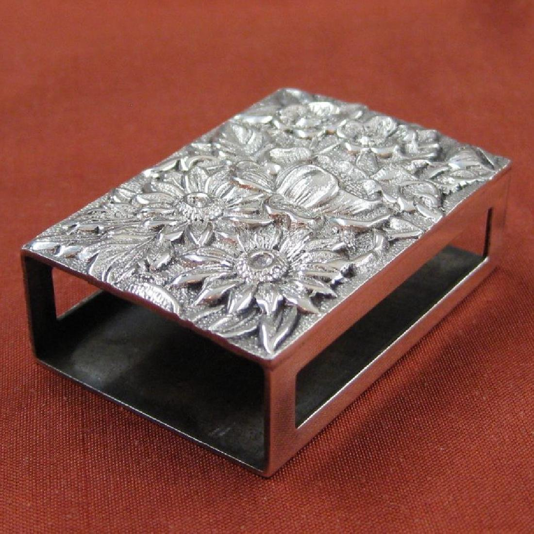 Kirk & Son Sterling Silver Repousse Matchbox Cover
