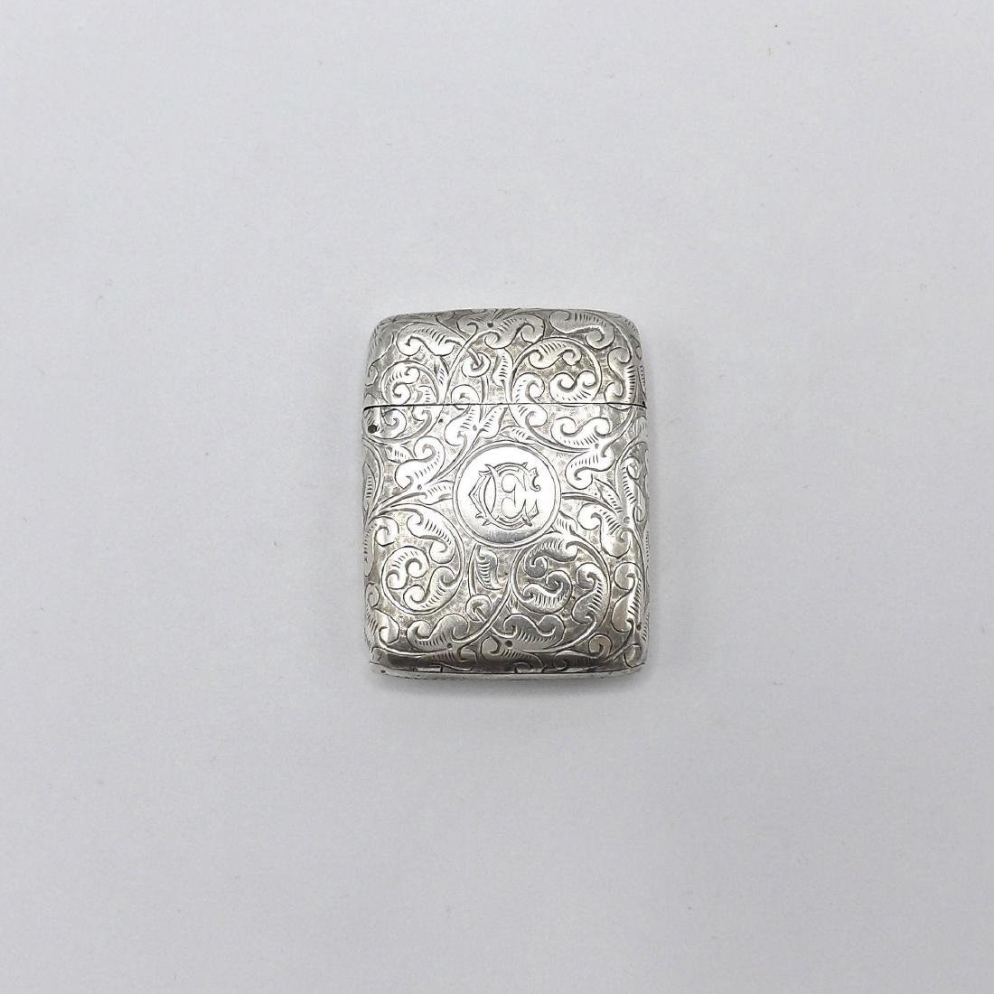Antique English Victorian Sterling Silver Match Safe