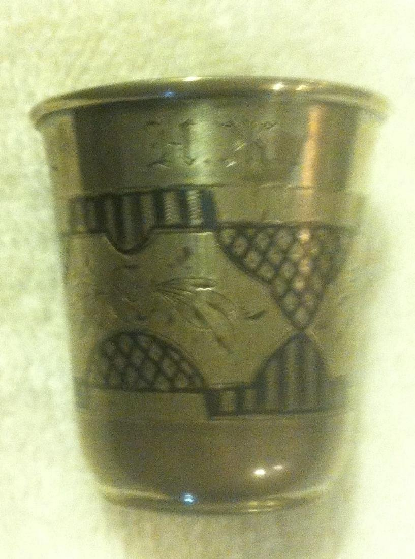 Russian/Polish 84 Silver Nielo Vodka or Kiddish Cup