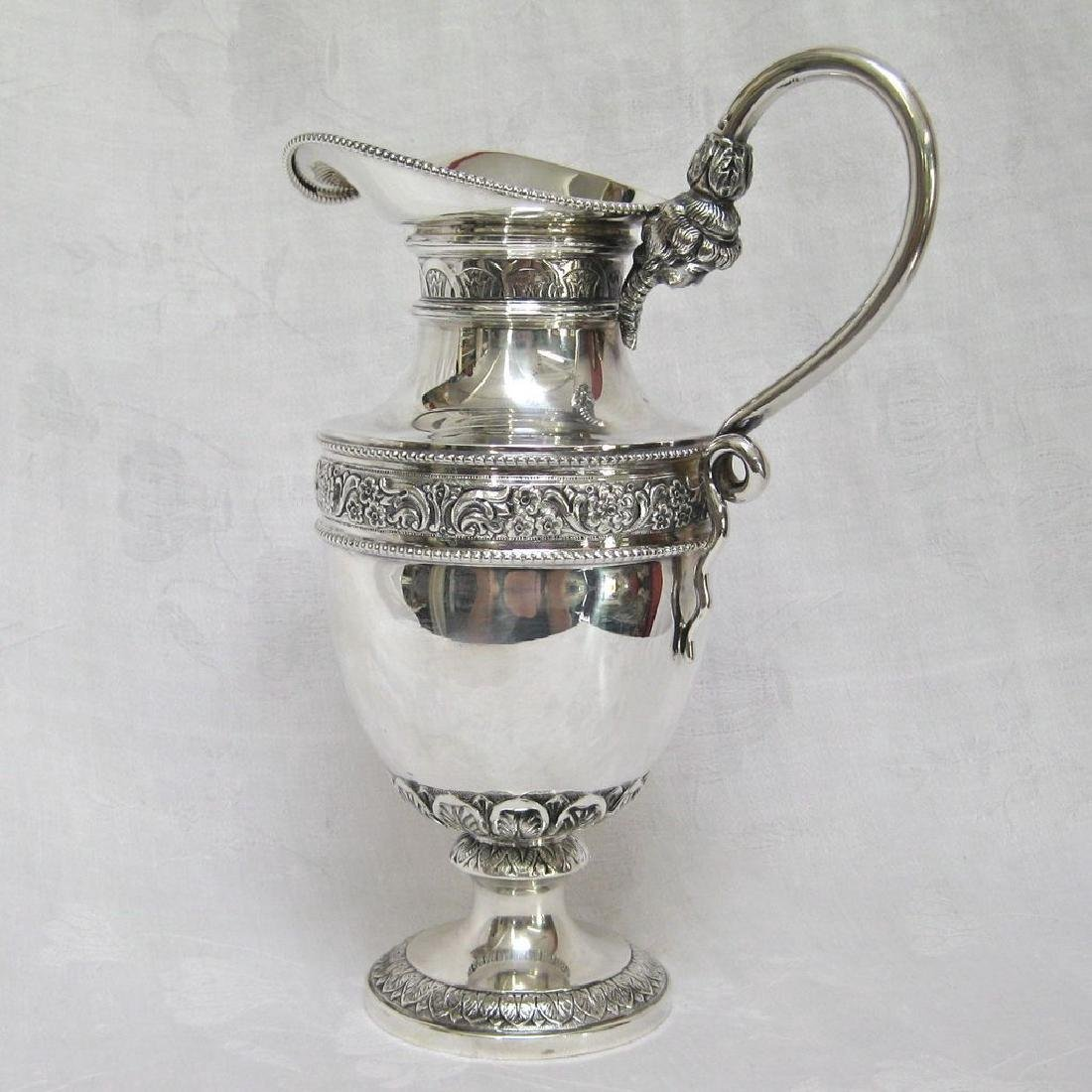 Belgian 835 Silver Figural Handle Pitcher