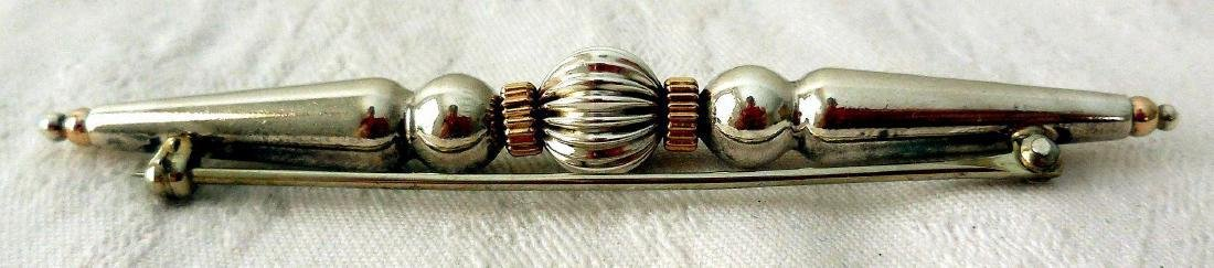 Art Deco Sterling Silver Bar Pin, 1910-1930