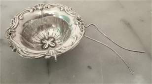 French Napoleon III Sterling Silver Tea Strainer
