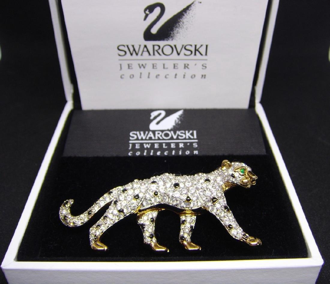 Swarovski Figural Panther Brooch